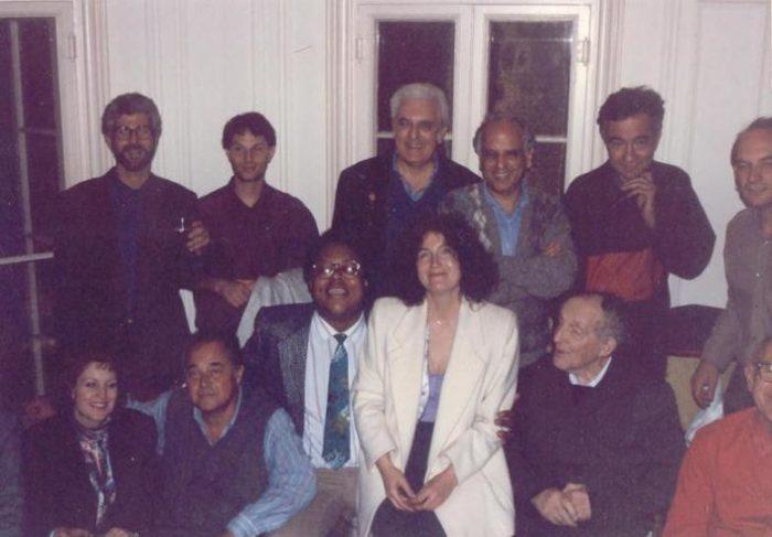 Лев и Наталья Термен с пионерами электронной музыки. 1991